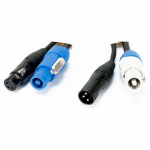 12ft 3pin XLR DMX and 16 Gauge Locking Cable