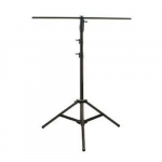 10ft Heavy Duty Black Steel Lighting Stand with T-Bar