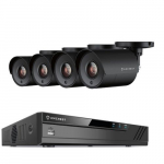 1080P 4 Channel Video System 4 Bullet Cameras