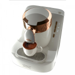 Automatic Turkish Coffee Machine, White/Gold