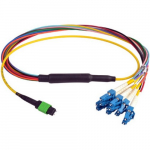 Duplex Single Mode Fiber Breakout Cable, 10ft