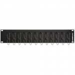 24-Port SC Simplex Multimode Feed-Thru Panel