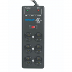 AC Surge Strip 6 Outlet, Extreme Voltage Shutdown