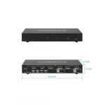 2x1 DP Display Port 1.2 and USB 2.0 KVM Switch Metal