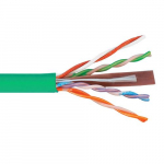 500Mhz CAT6 Bulk Cable, 1000 Feet, Green