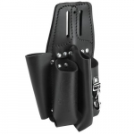 Black Leather Tool Pouch for Belts