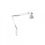 L-1 LED Task Light with Edge Clamp, White