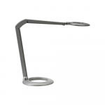 Ovelo LED Task Light with Desk Base, Silver Grey