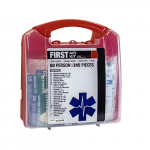 50-Person First Aid Kit, Plastic Case, 245 Pieces