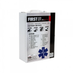 100-Person First Aid Kit, 586 Pieces, Metal Case