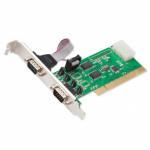 2 Port DB9 RS-232 Serial PCI Card