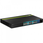 28-Port Gigabit Web Smart PoE+ Switch