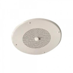 Dual Input Ceiling Speaker, White, 8 Inch